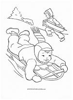 sledding coloring page