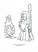 burning bush coloring page