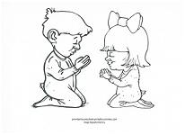 kids praying coloring page
