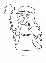shepard coloring page