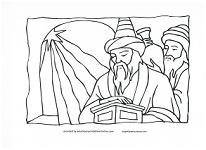 Wise men following the star coloring page