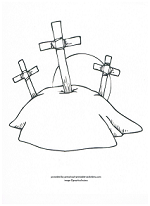 three crosses coloring page