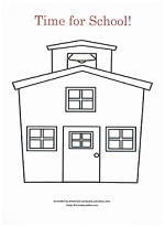 schoolhouse coloring page