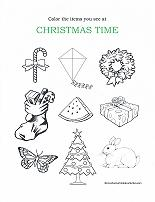 christmas worksheet for preschoolers