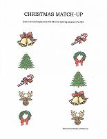 christmas match up worksheet