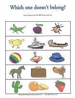 categorizing worksheet for preschoolers