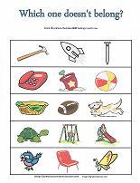 learning to categorize worksheet