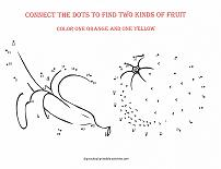 fruit dot to dot picture