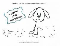 dog dot to dot picture