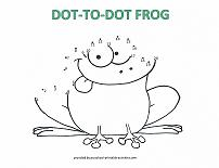 dot to dot frog picture