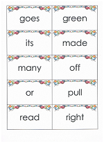 printable sight word flashcards