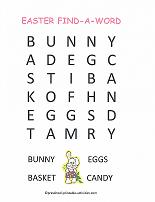 easter word search for preschoolers