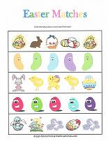easter theme matching worksheet