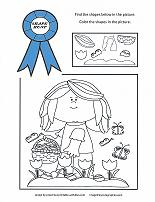 preschool shape recognition coloring sheet
