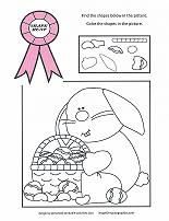 preschool easter coloring worksheet