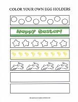 printable easter egg holder craft