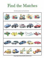matching pictures worksheet