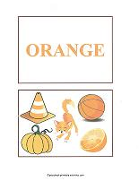 orange color flash cards
