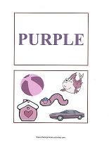 purple color flash cards