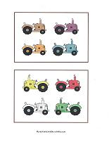 tractors for learning colors