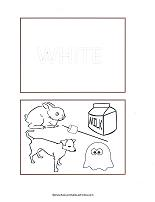 white color flash cards