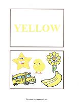 yellow color flash cards