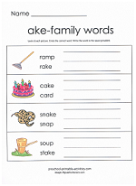 ake family worksheet