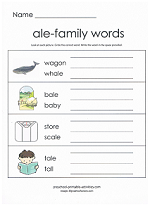 ale family worksheet