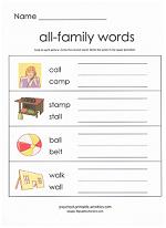 all family worksheet