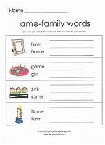 ame family worksheet