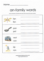 an family worksheet
