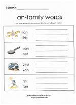 an family worksheet