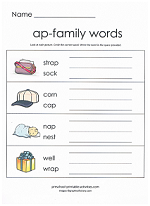 ap family worksheet