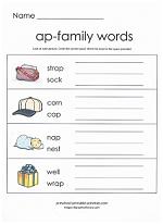 ap family worksheet