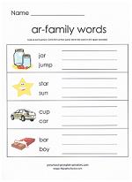 ar family worksheet