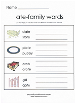ate family worksheet
