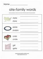 ate family worksheet