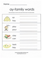 ay family worksheet