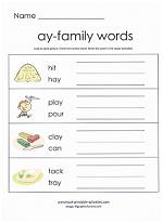 ay family worksheet