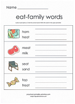 eat family worksheet