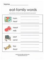 eat family worksheet