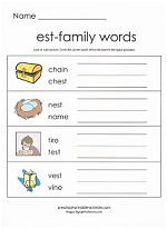 est family worksheet