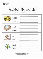 est family worksheet