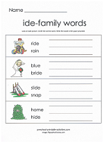 ide family worksheet