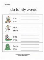 ide family worksheet