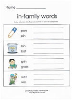 in family worksheet