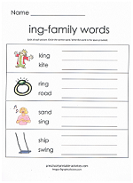 ing family worksheet
