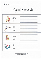 it family worksheet