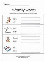 it family worksheet