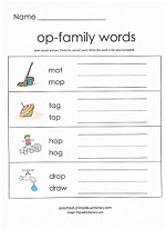 op family worksheet